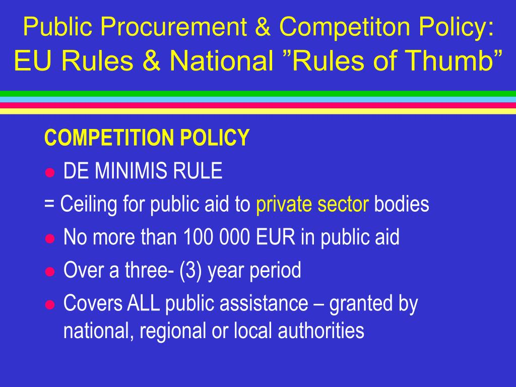Public Procurement & Competiton Policy:
