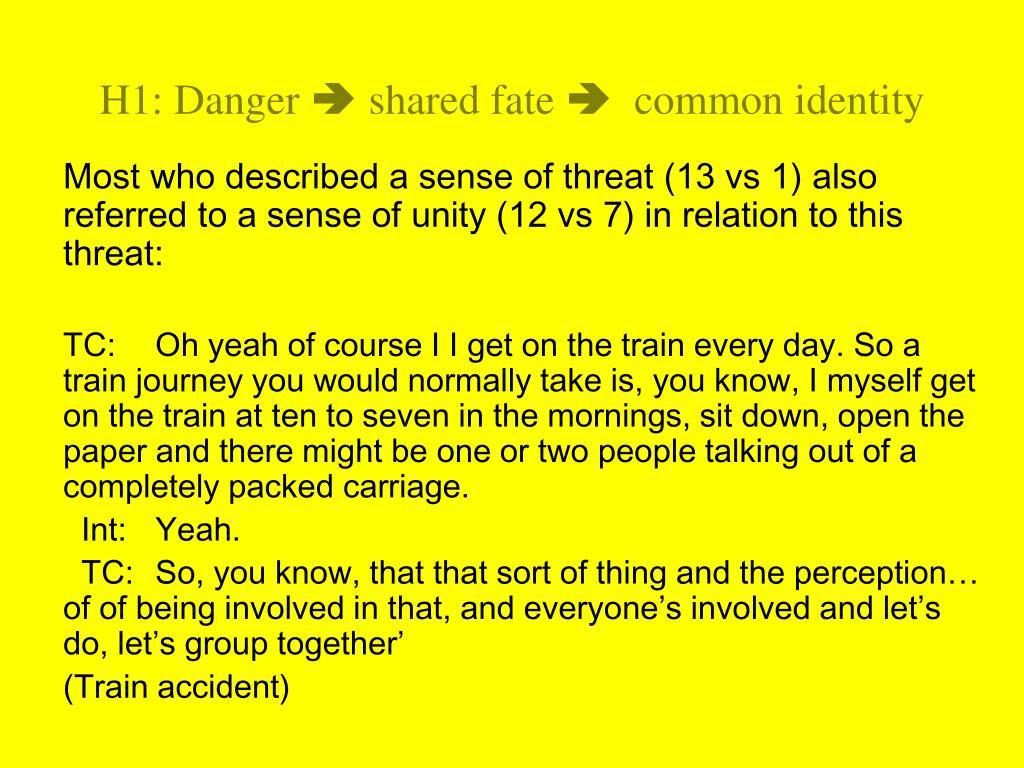 H1: Danger