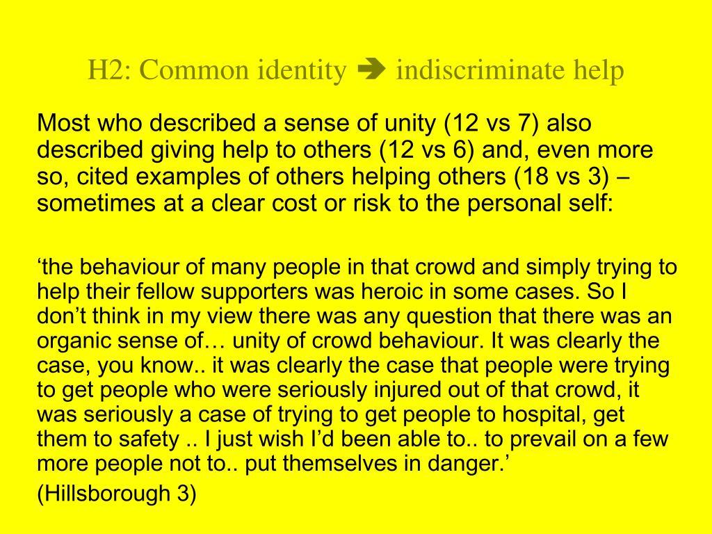 H2: Common identity