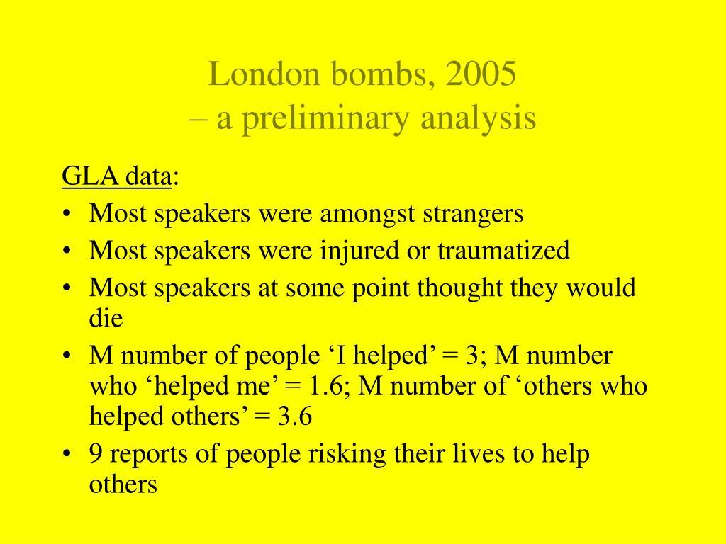 London bombs, 2005