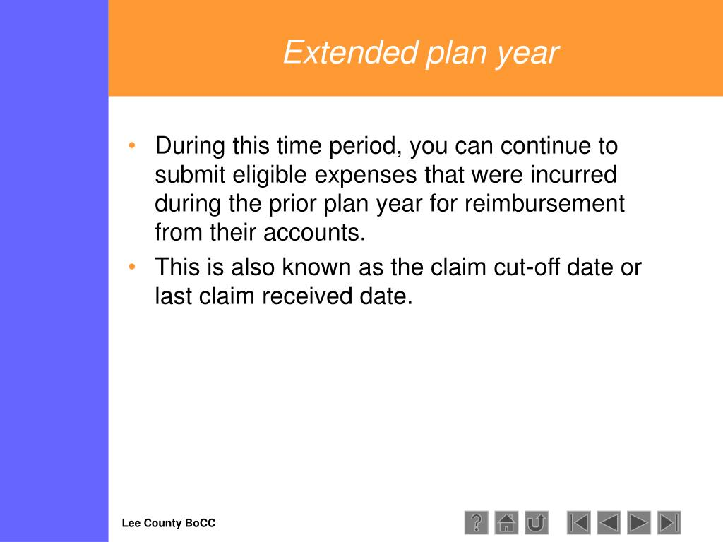 Extended plan year