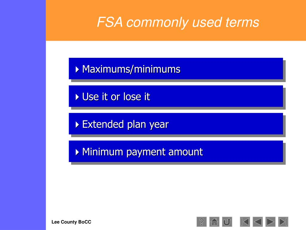 FSA commonly used terms