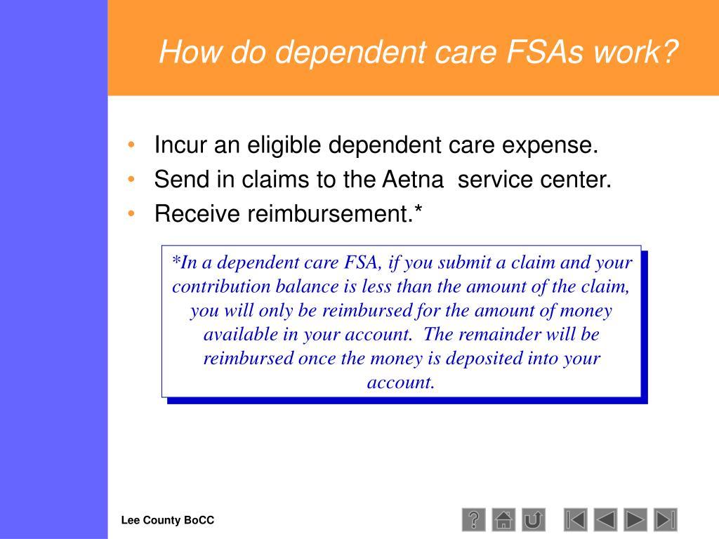 How do dependent care FSAs work?