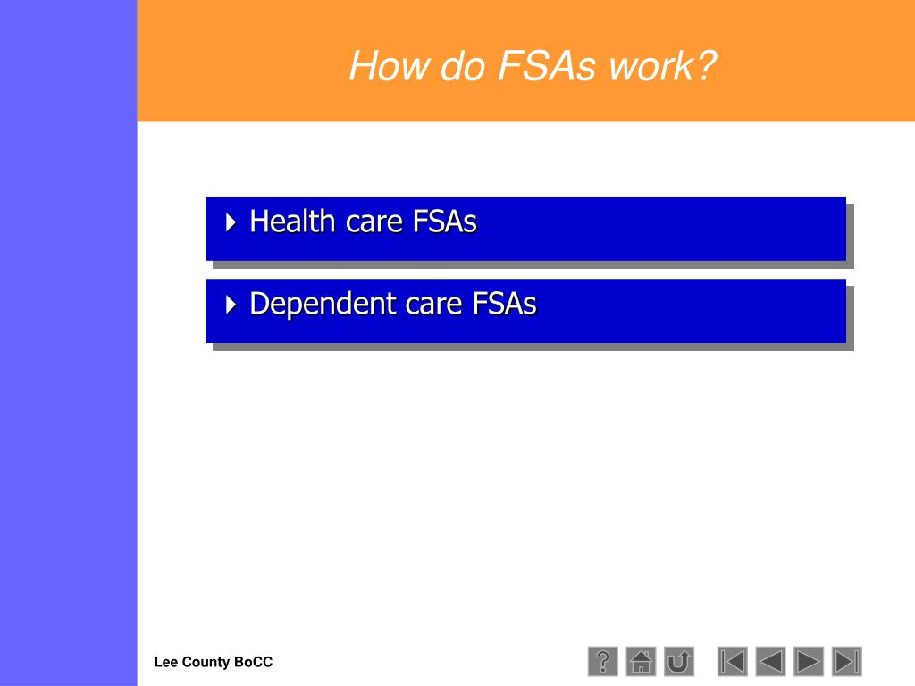 How do FSAs work?