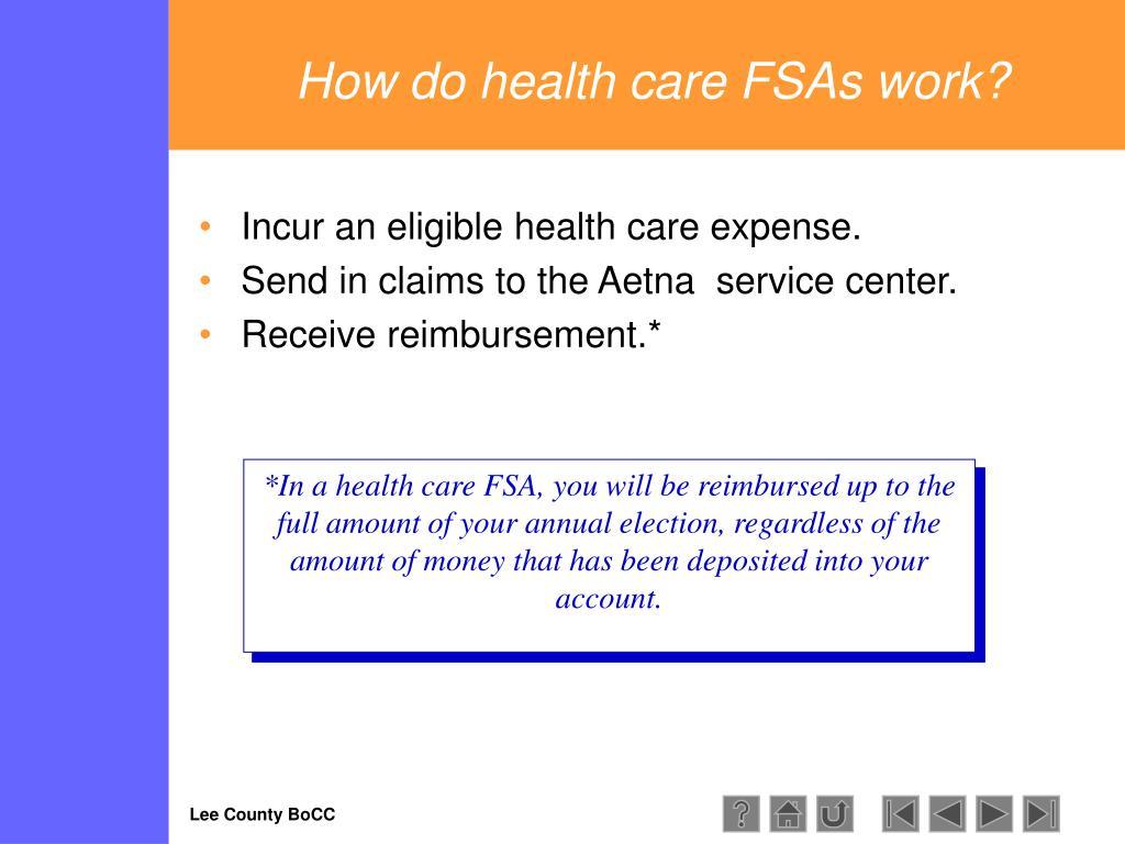 How do health care FSAs work?
