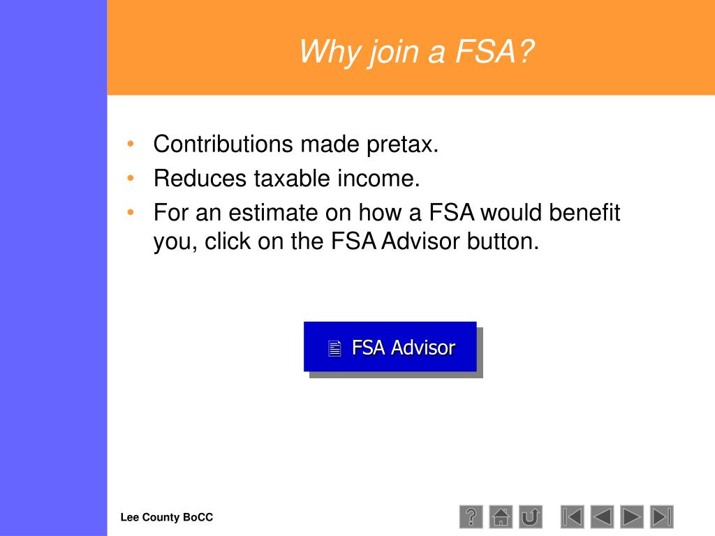 Why join a FSA?