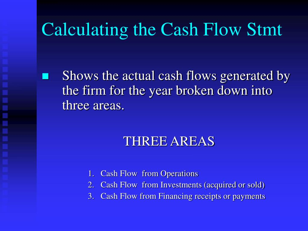 Calculating the Cash Flow Stmt