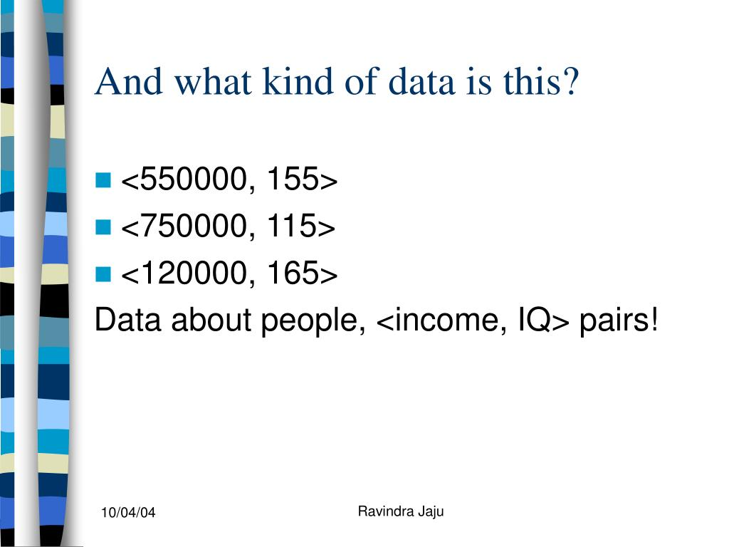 And what kind of data is this?