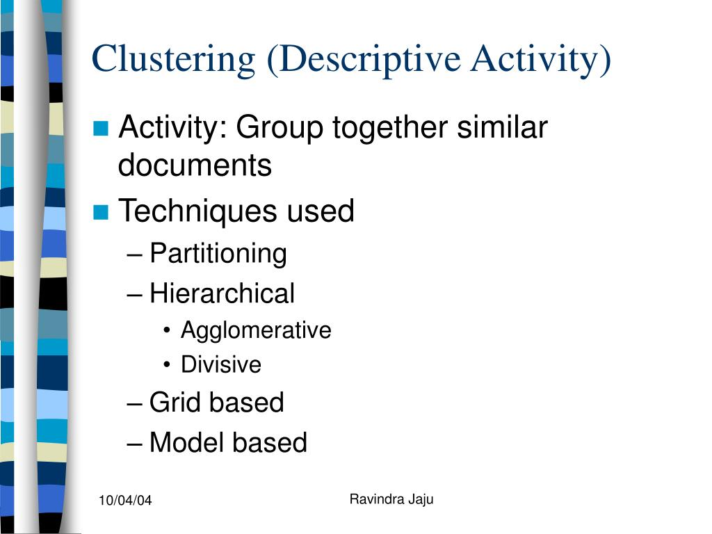 Clustering (Descriptive Activity)