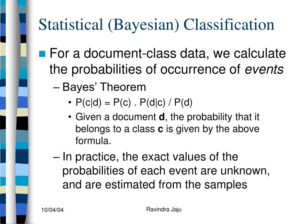 Statistical (Bayesian) Classification