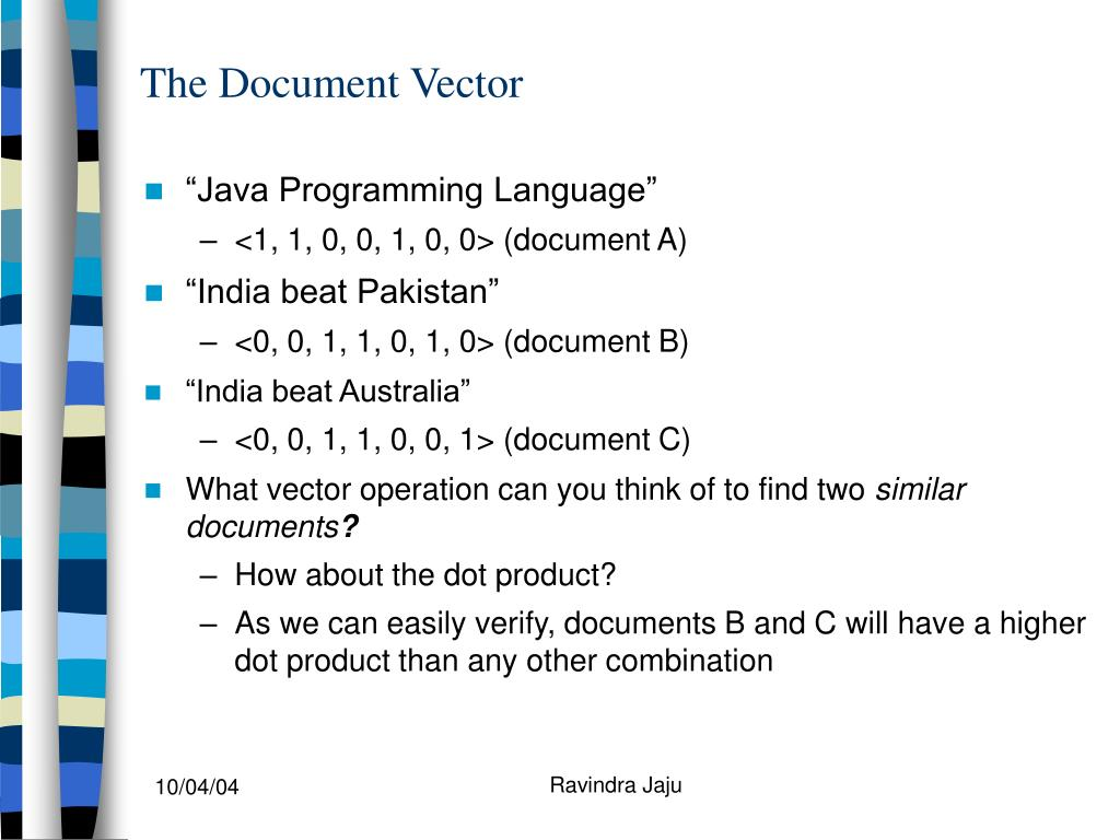 The Document Vector