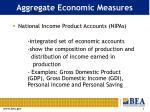 aggregate economic measures