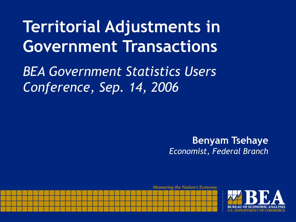 Territorial Adjustments in Government Transactions