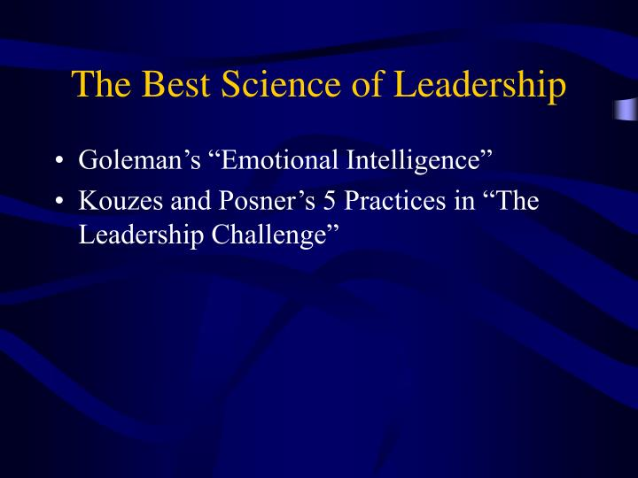 The Best Science of Leadership