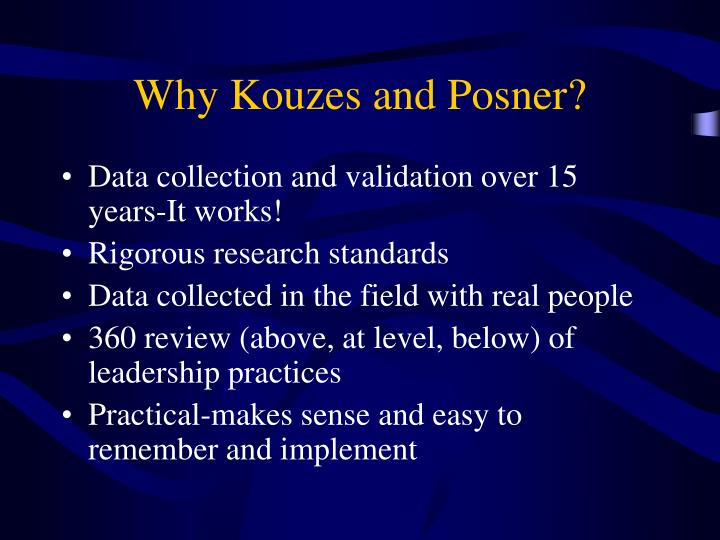 Why Kouzes and Posner?