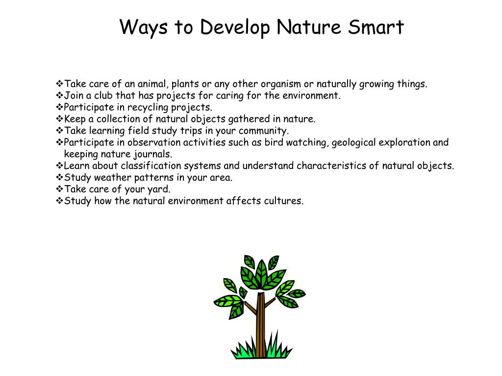 Ways to Develop Nature Smart