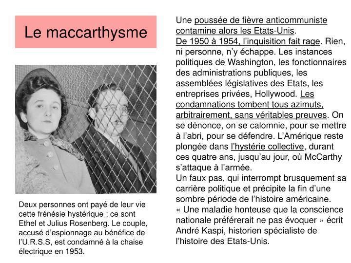 Le maccarthysme