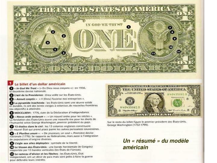 Un «résumé» du modèle américain