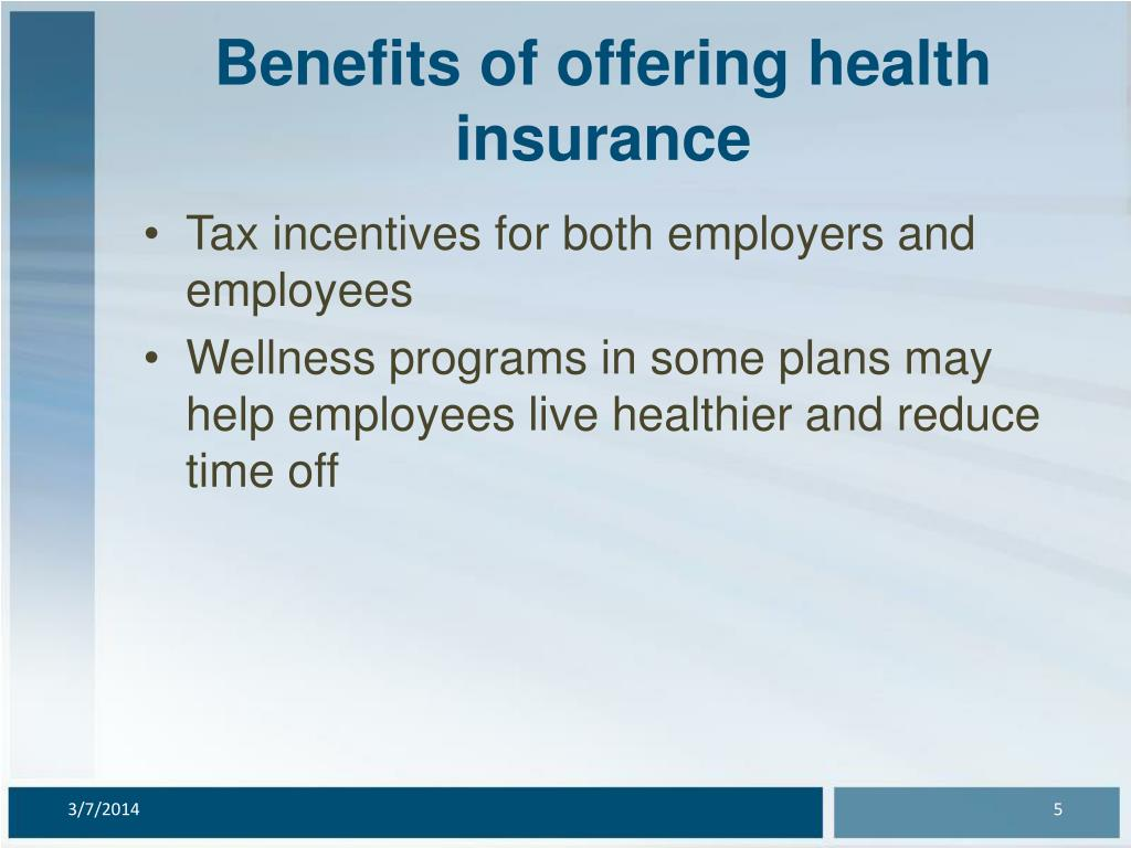 Benefits of offering health insurance
