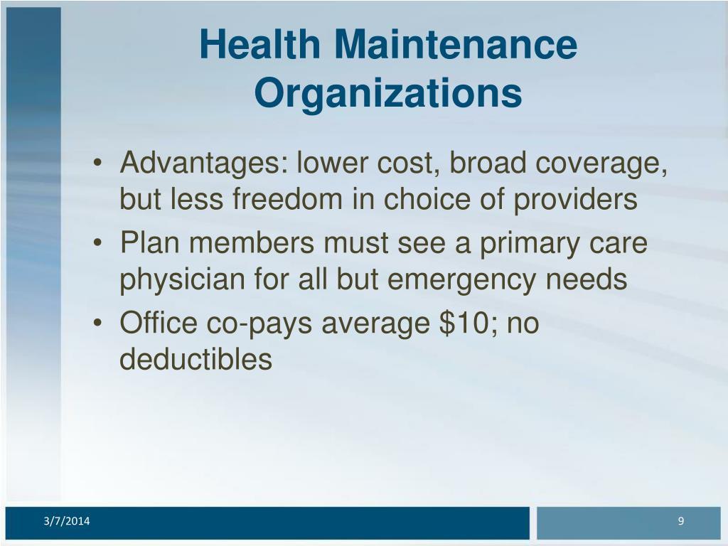 Health Maintenance Organizations