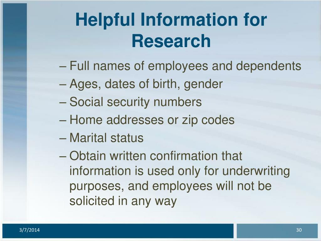 Helpful Information for Research