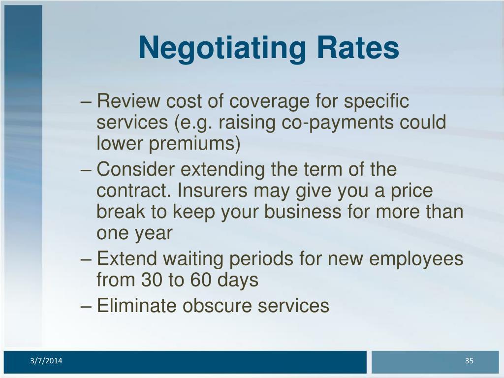 Negotiating Rates
