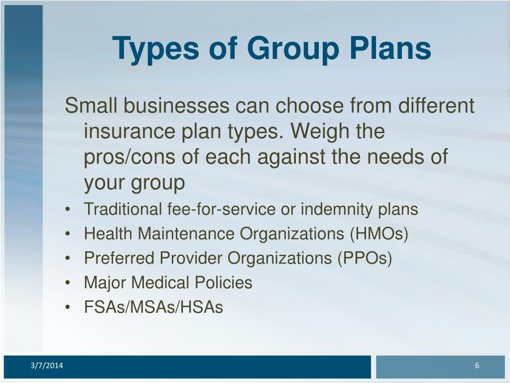 Types of Group Plans