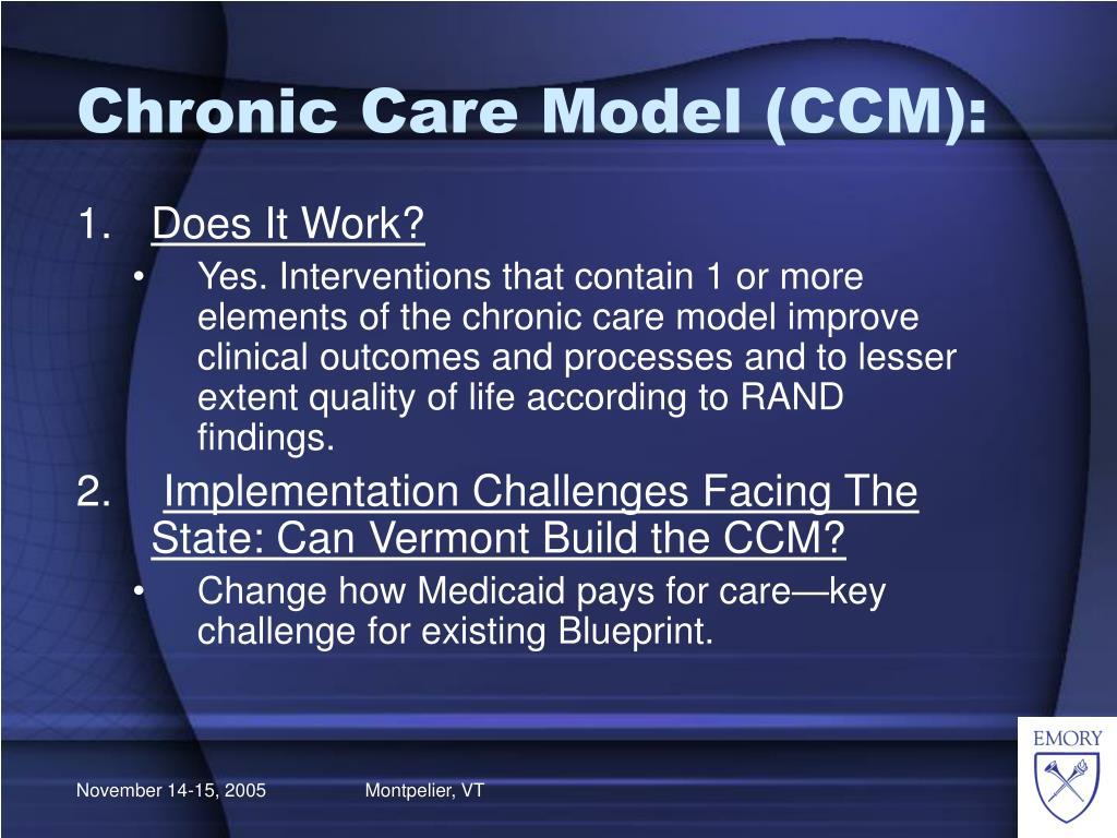 Chronic Care Model (CCM):