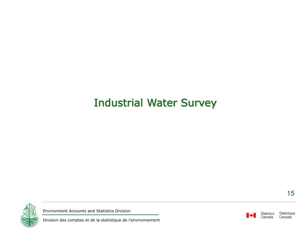 Industrial Water Survey