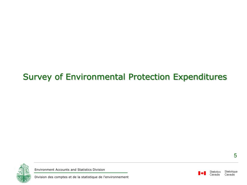 Survey of Environmental Protection Expenditures