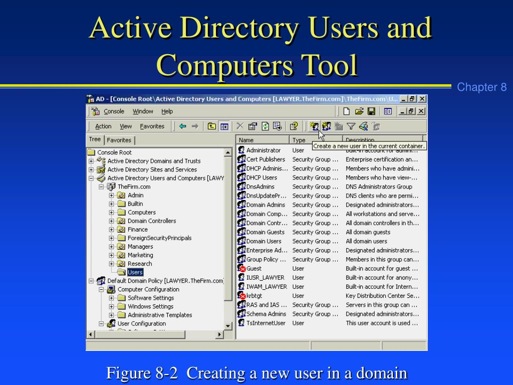Active Directory Users and Computers Tool