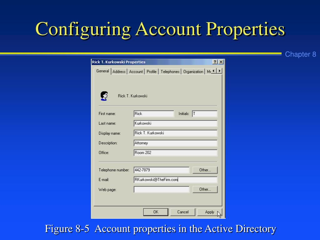 Configuring Account Properties