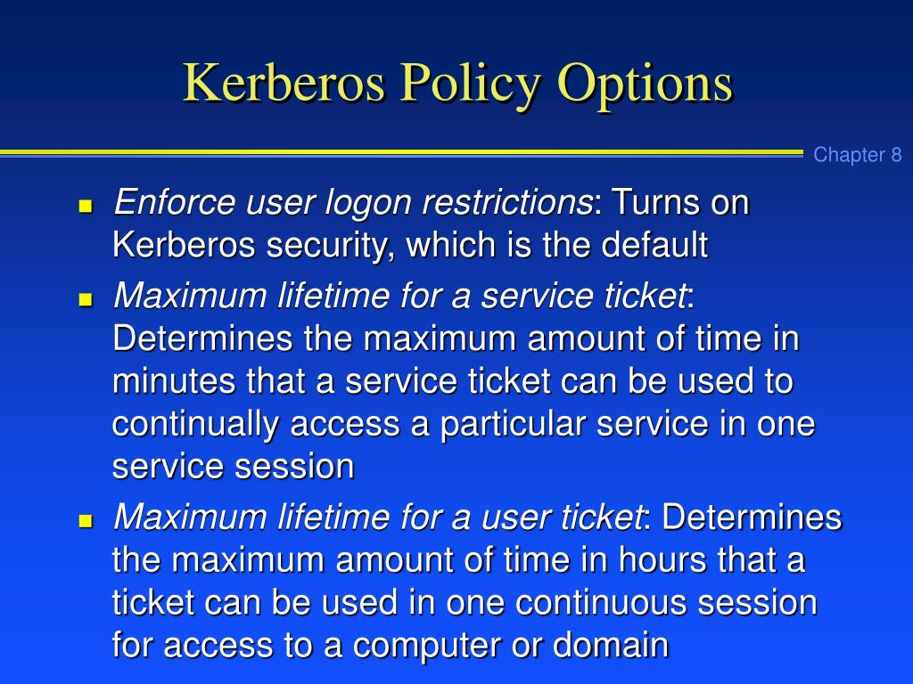 Kerberos Policy Options