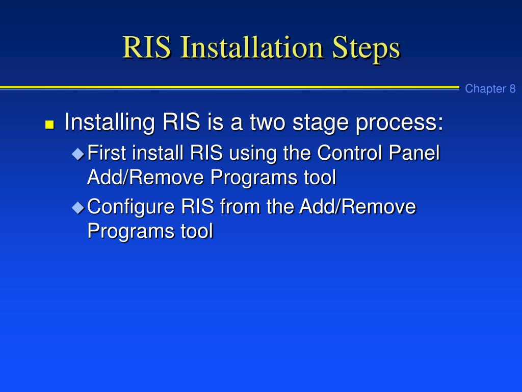 RIS Installation Steps