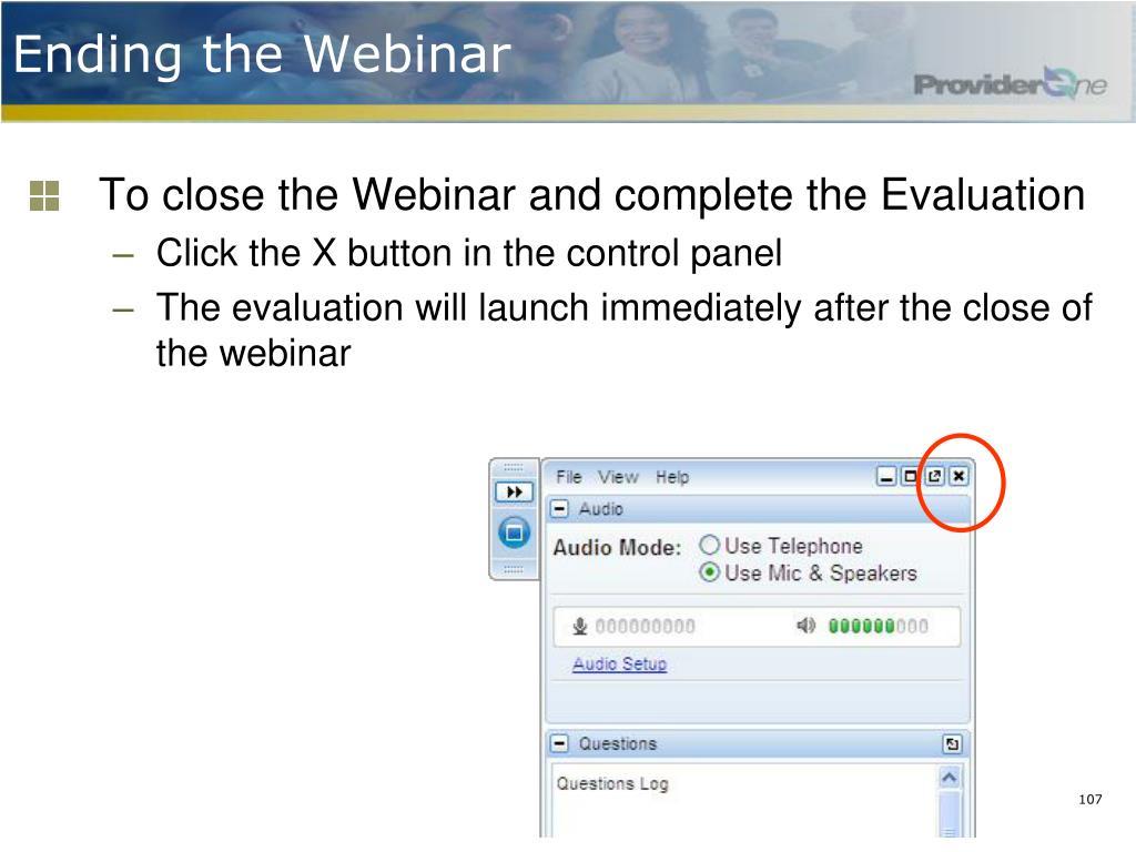 Ending the Webinar