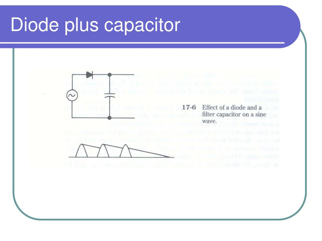 Diode plus capacitor
