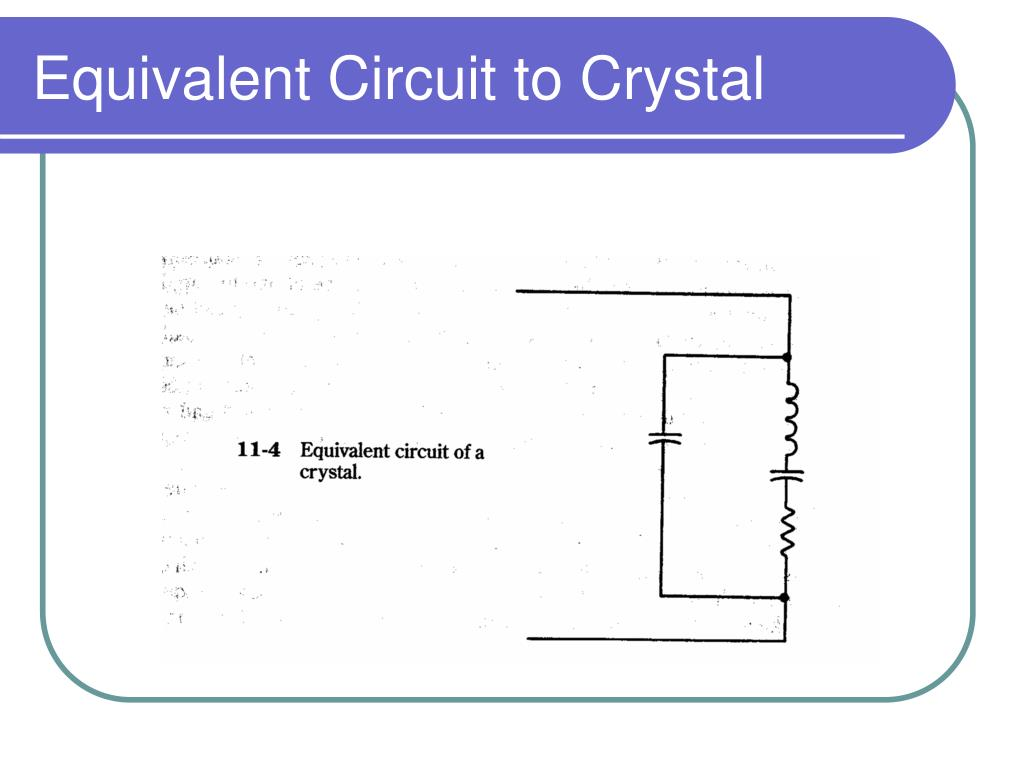 Equivalent Circuit to Crystal