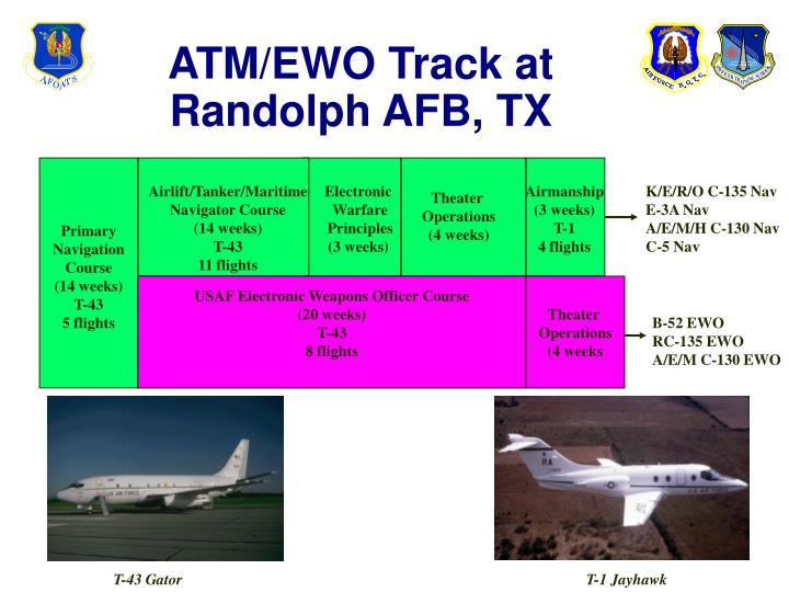 ATM/EWO Track at Randolph AFB, TX