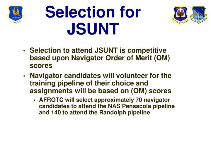 Selection for JSUNT