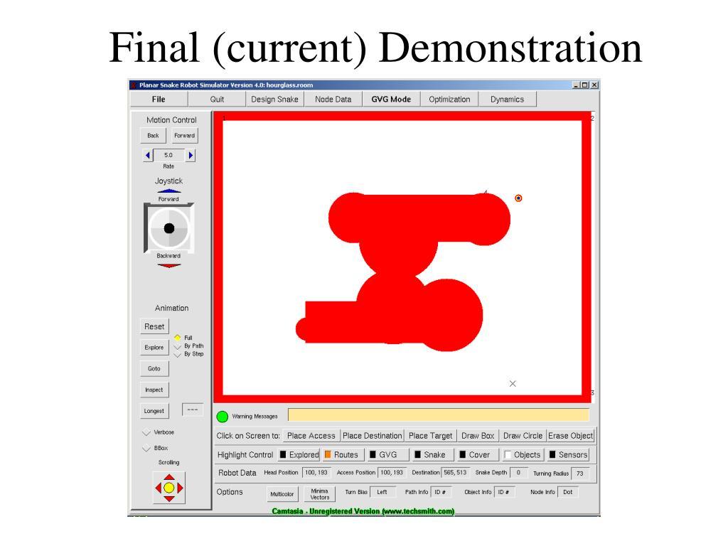 Final (current) Demonstration