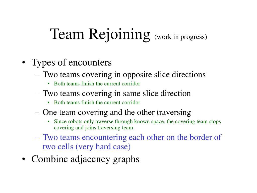 Team Rejoining