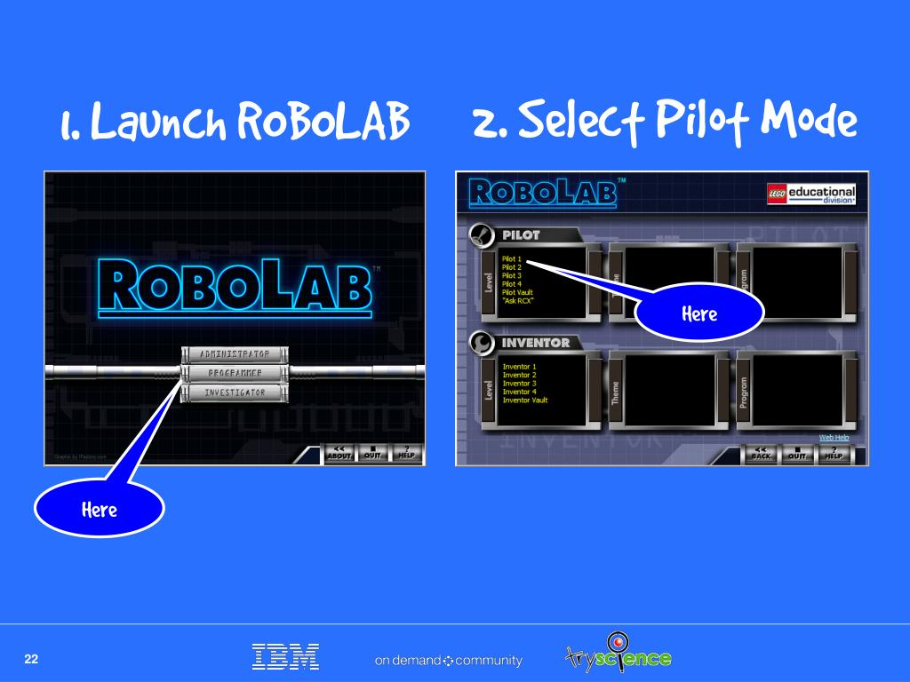 2. Select Pilot Mode