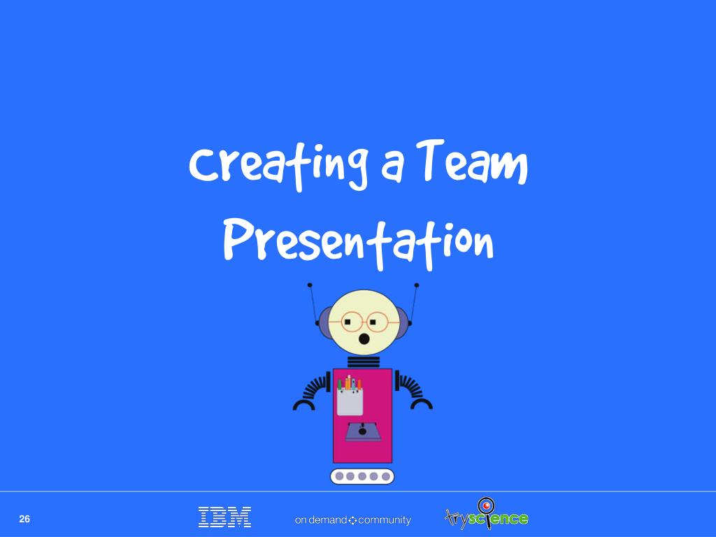 Creating a Team Presentation