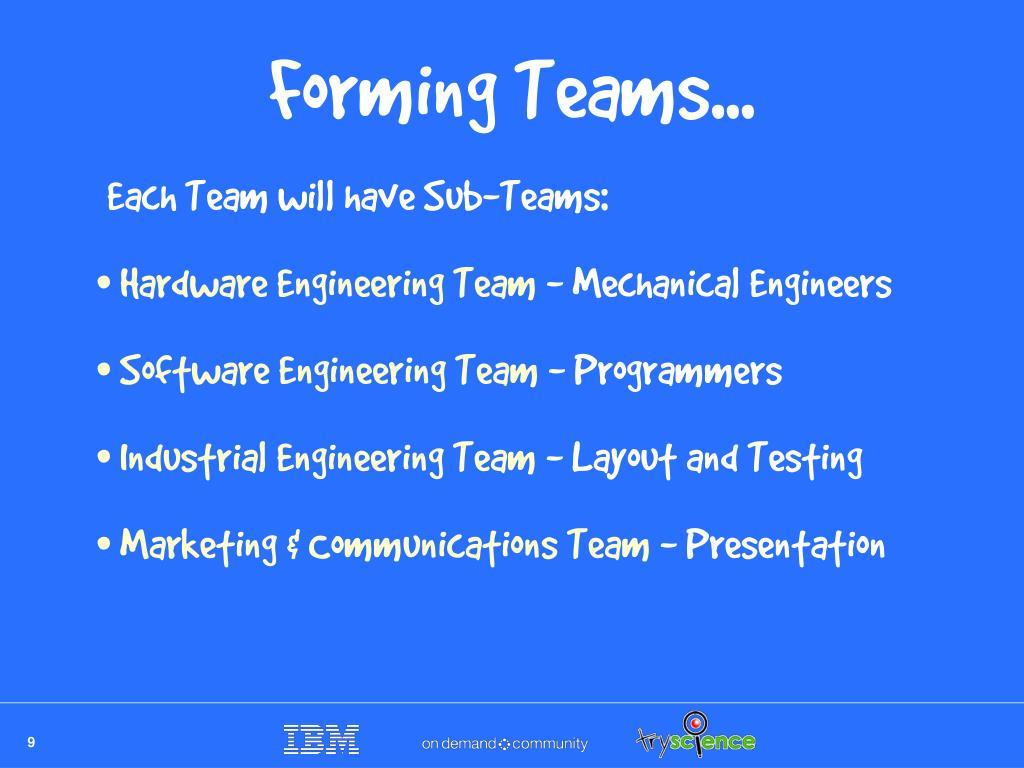 Forming Teams...