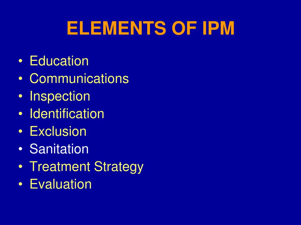 ELEMENTS OF IPM