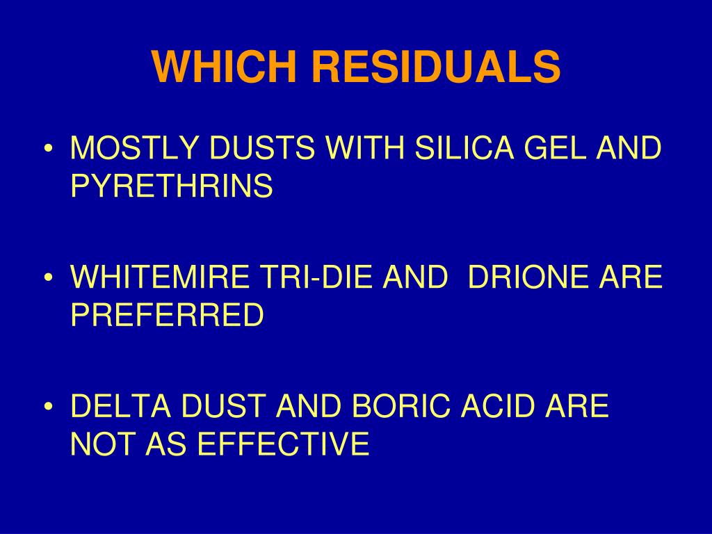 WHICH RESIDUALS