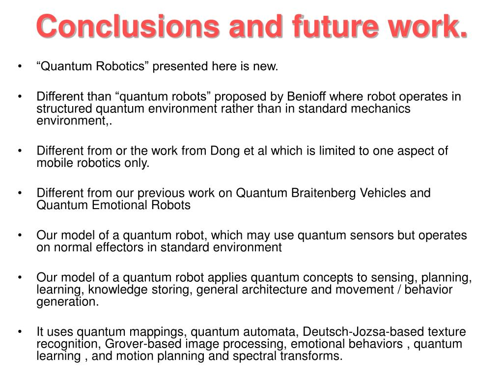 Conclusions and future work.