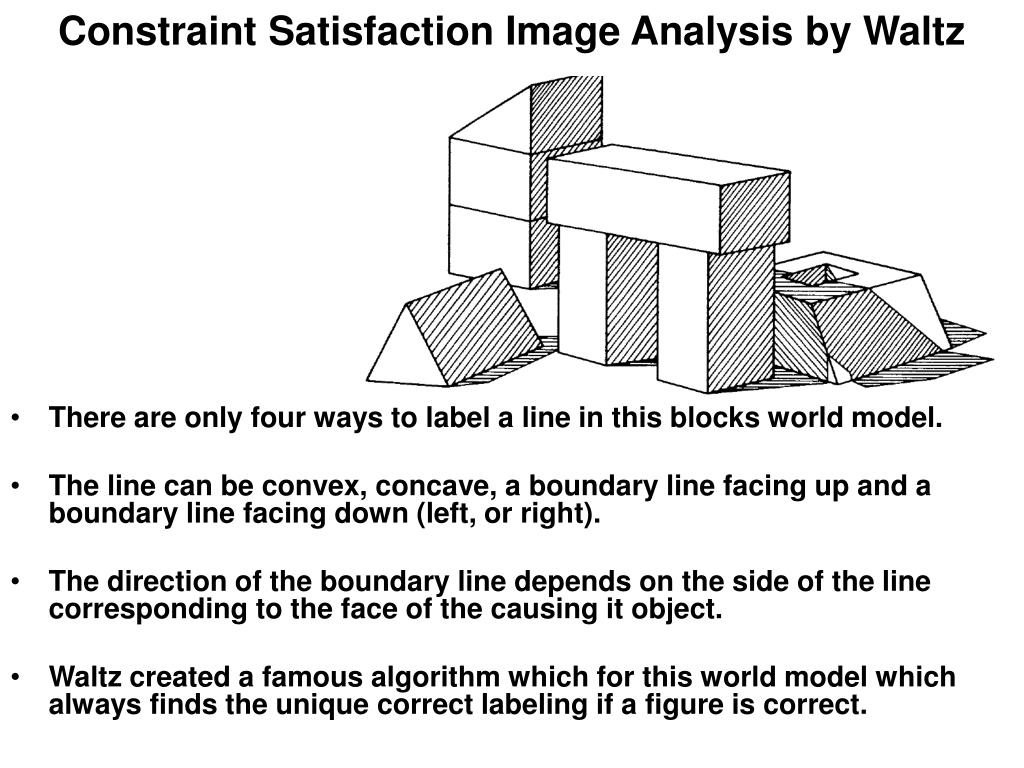 Constraint Satisfaction Image Analysis by Waltz