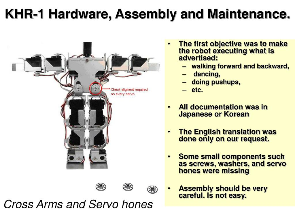 KHR-1 Hardware, Assembly and Maintenance.
