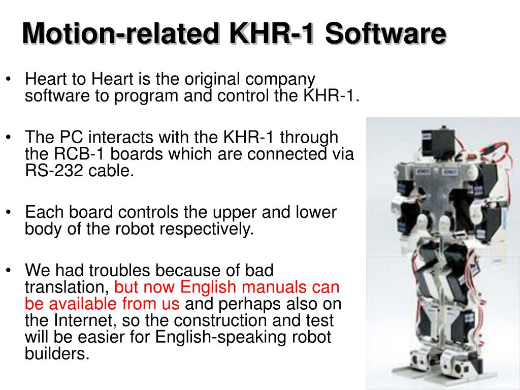 Motion-related KHR-1 Software